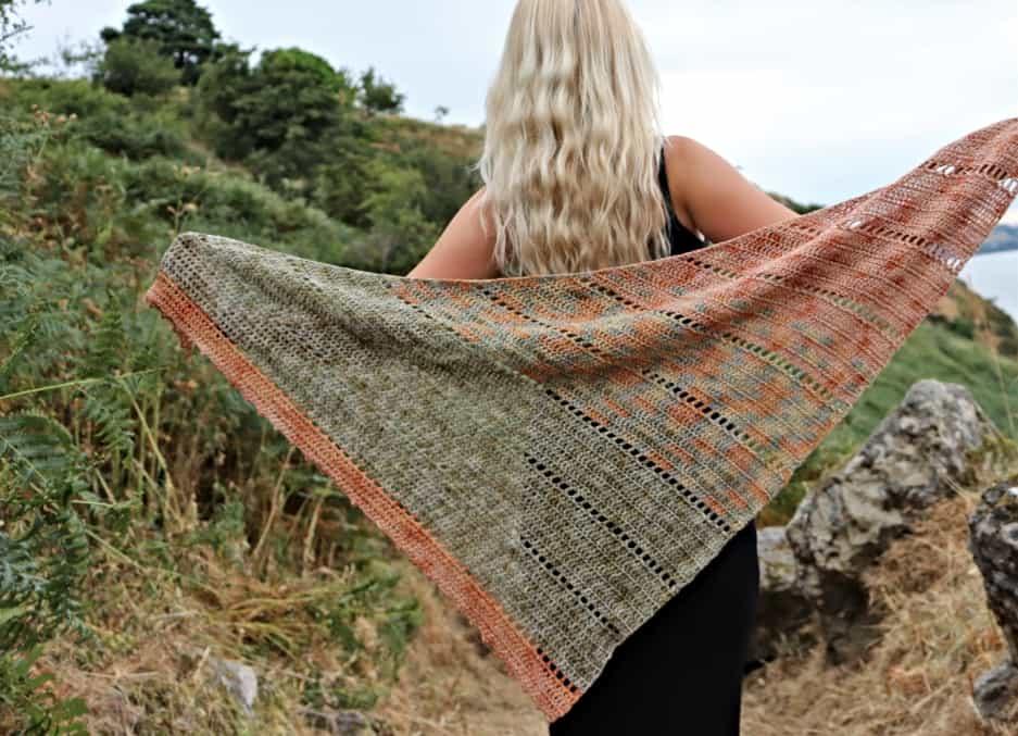 Space Fade Shawl Free Pattern Annie Design Crochet
