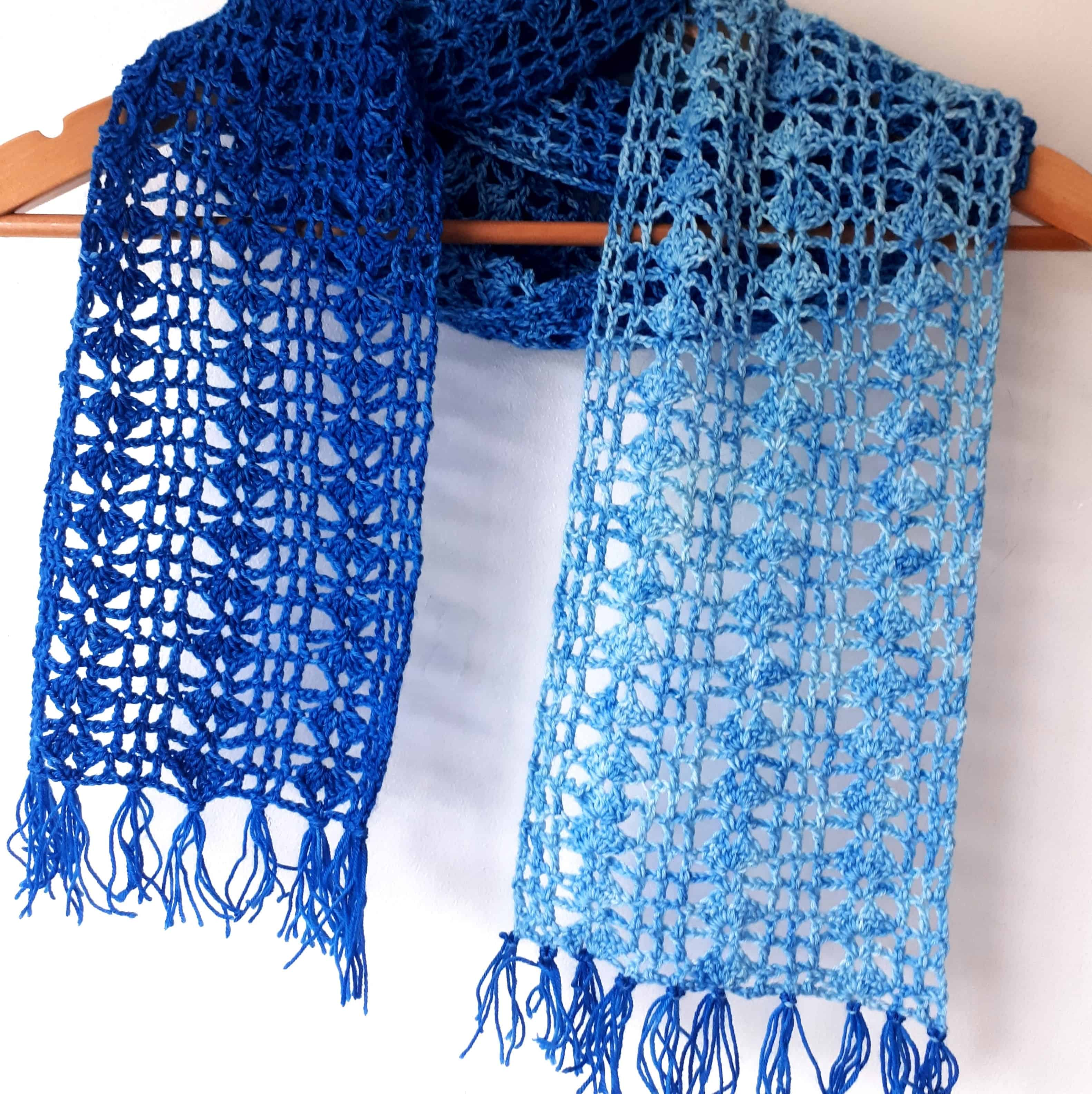 Indigo Scarf Free Crochet Pattern Annie Design Crochet