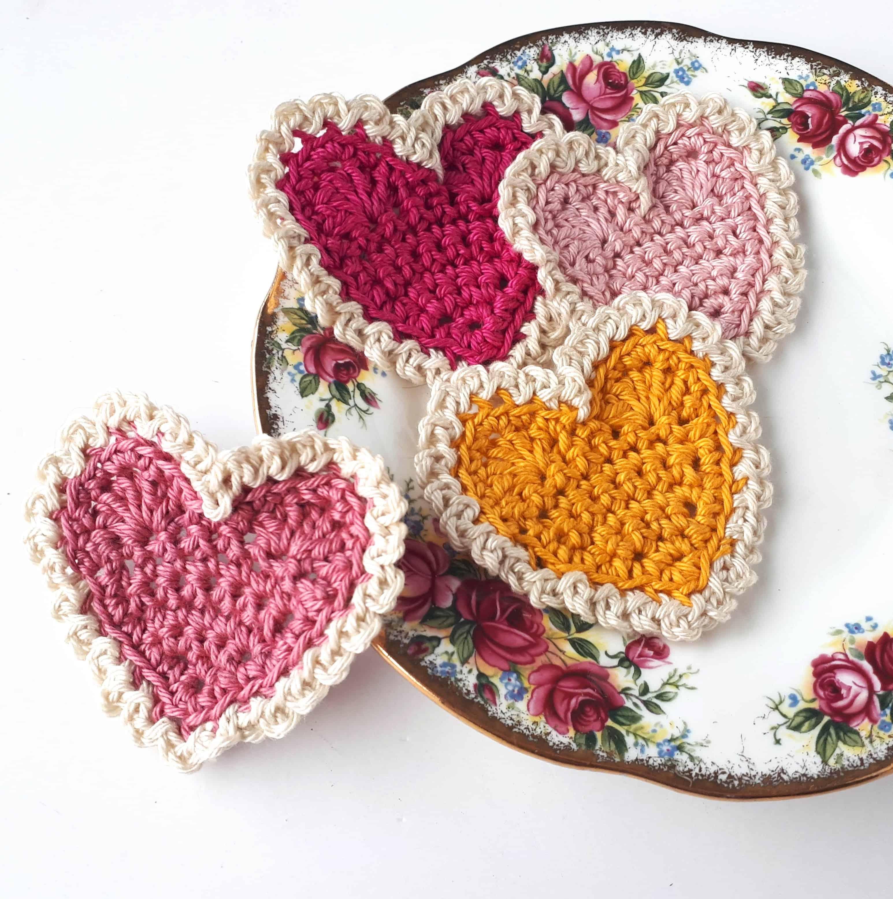 Vintage Crochet Hearts Free Crochet Pattern