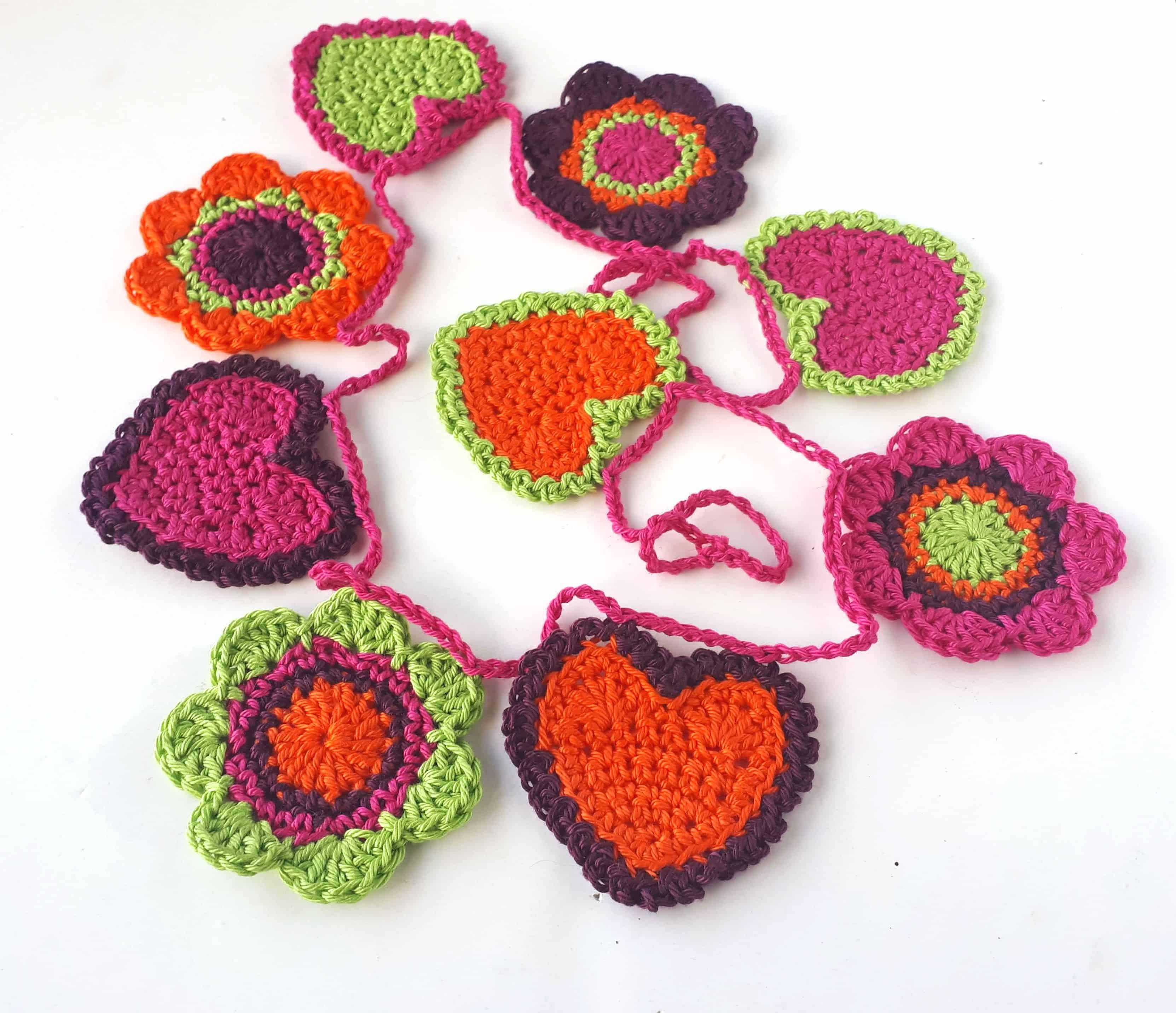 Crochet Garland For Valentines Day Free Crochet Pattern