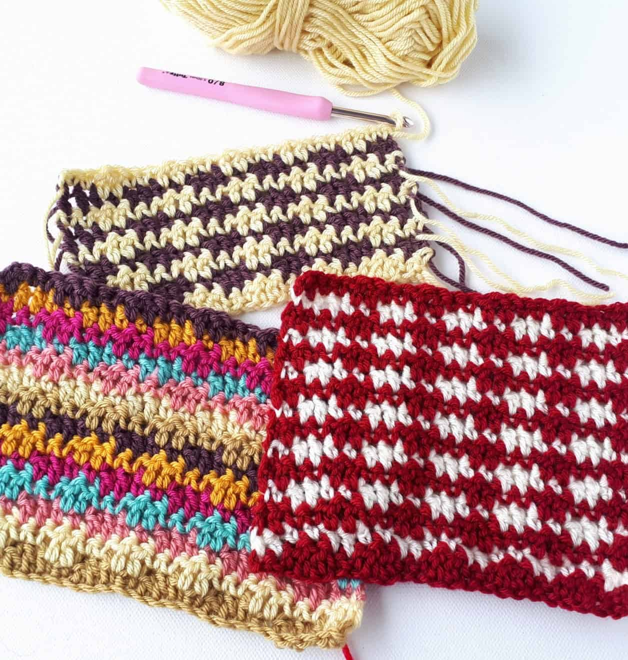 Double Grit Stitch Crochet Tutorial Free Pattern Annie Design
