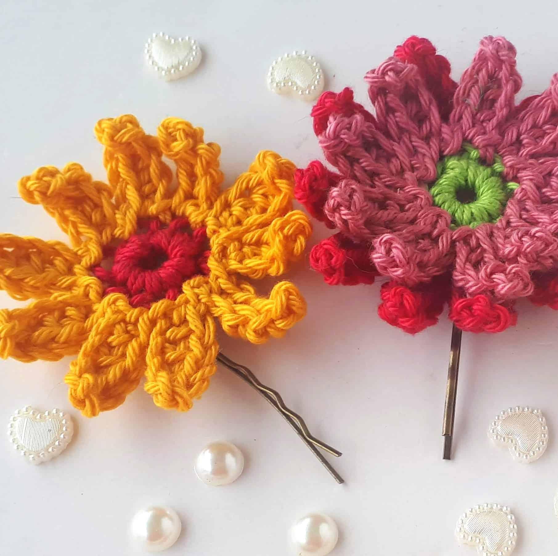 gerbera crochet flowers easy free pattern