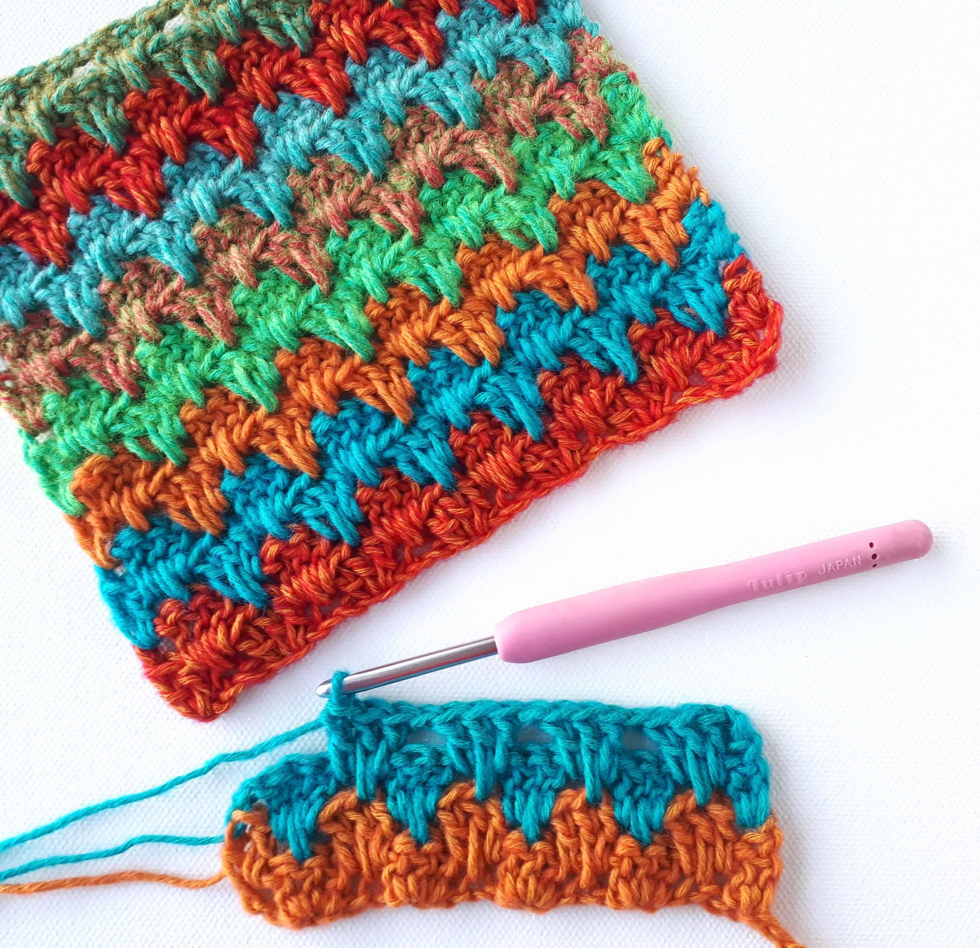 Granny Spike Stitch Crochet Tutorial Annie Design Crochet