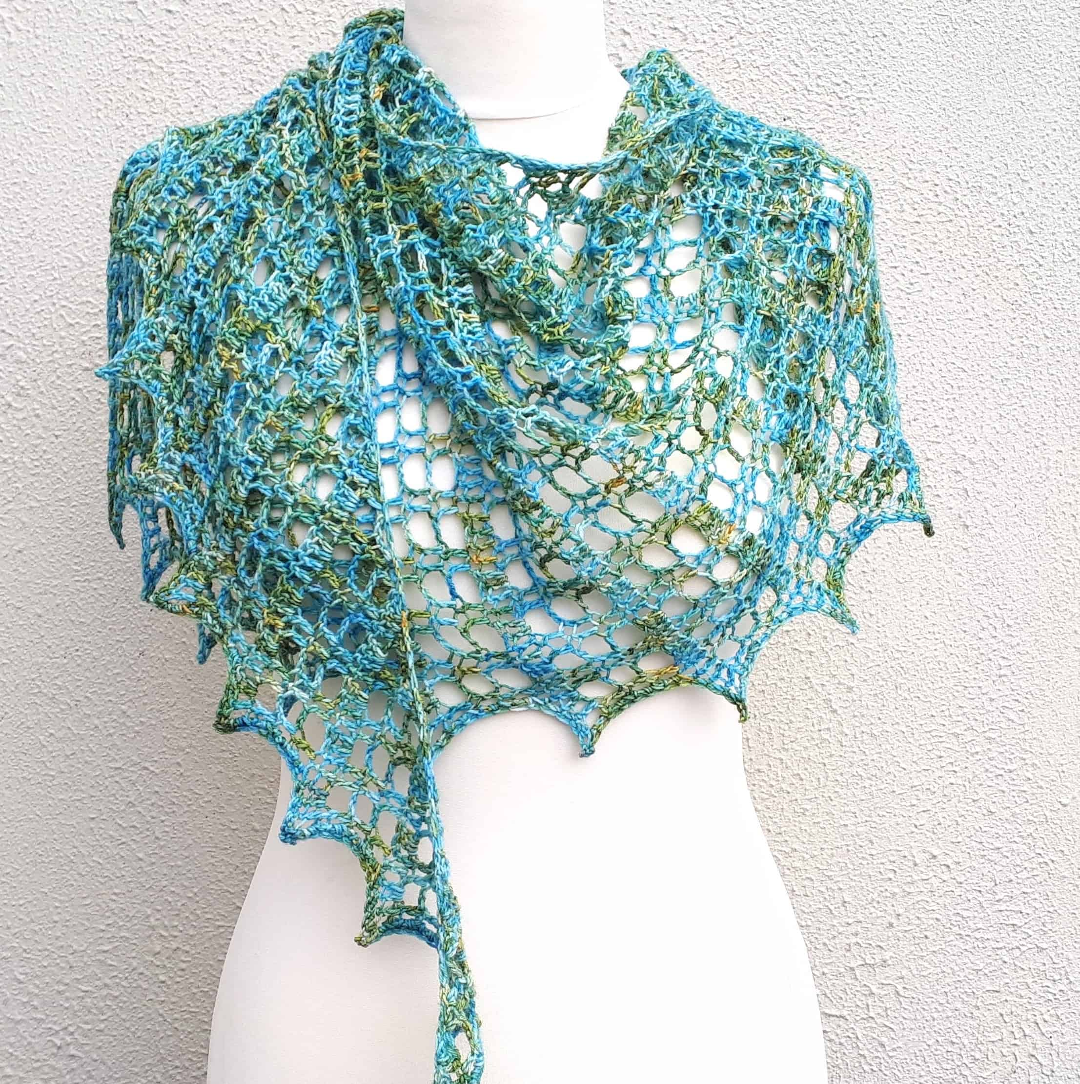 Flora Shawl One Skein Free Crochet Pattern Annie Design Crochet