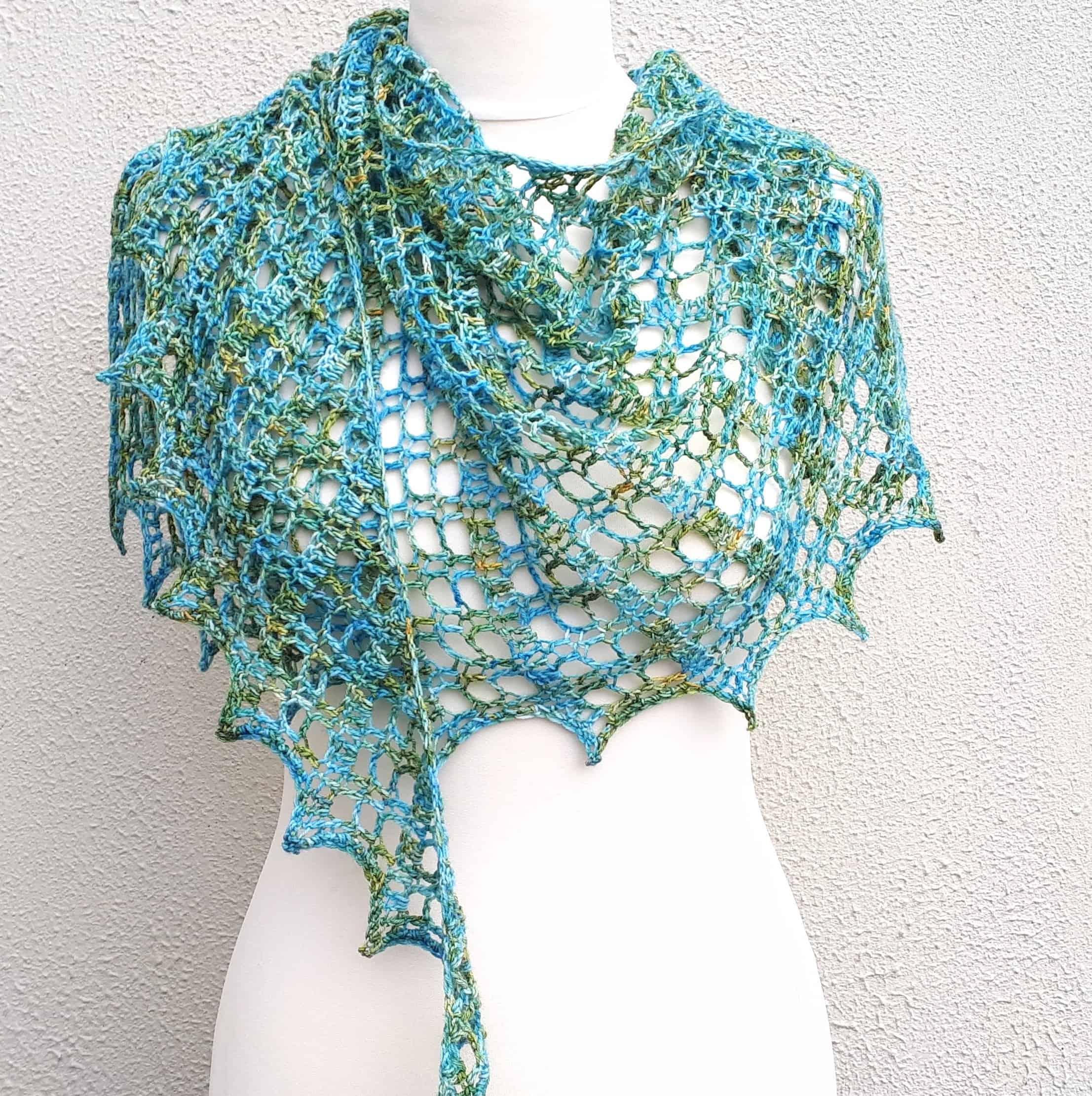 crochet shawl one skein free pattern