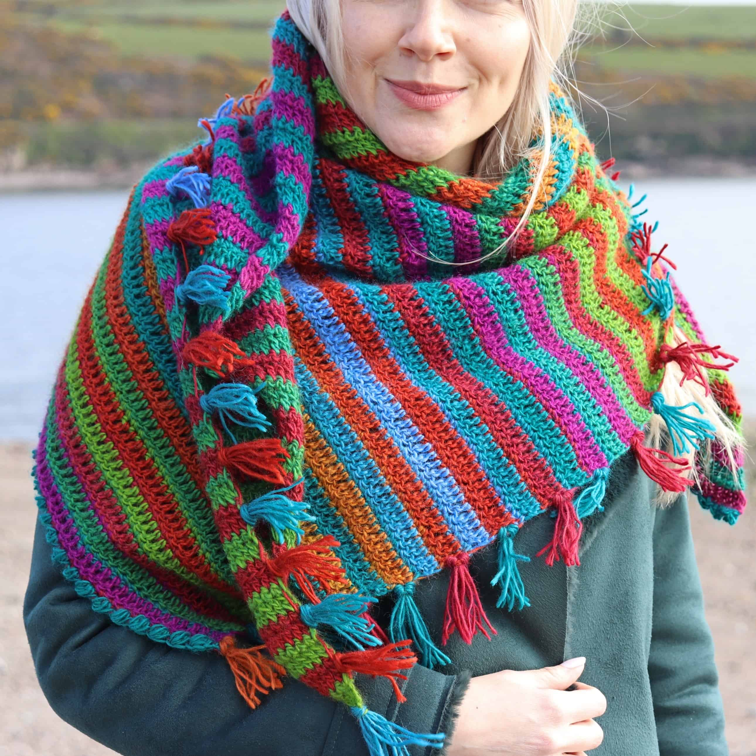 Wild Teasel Shawl Free Crochet Pattern Annie Design Crochet