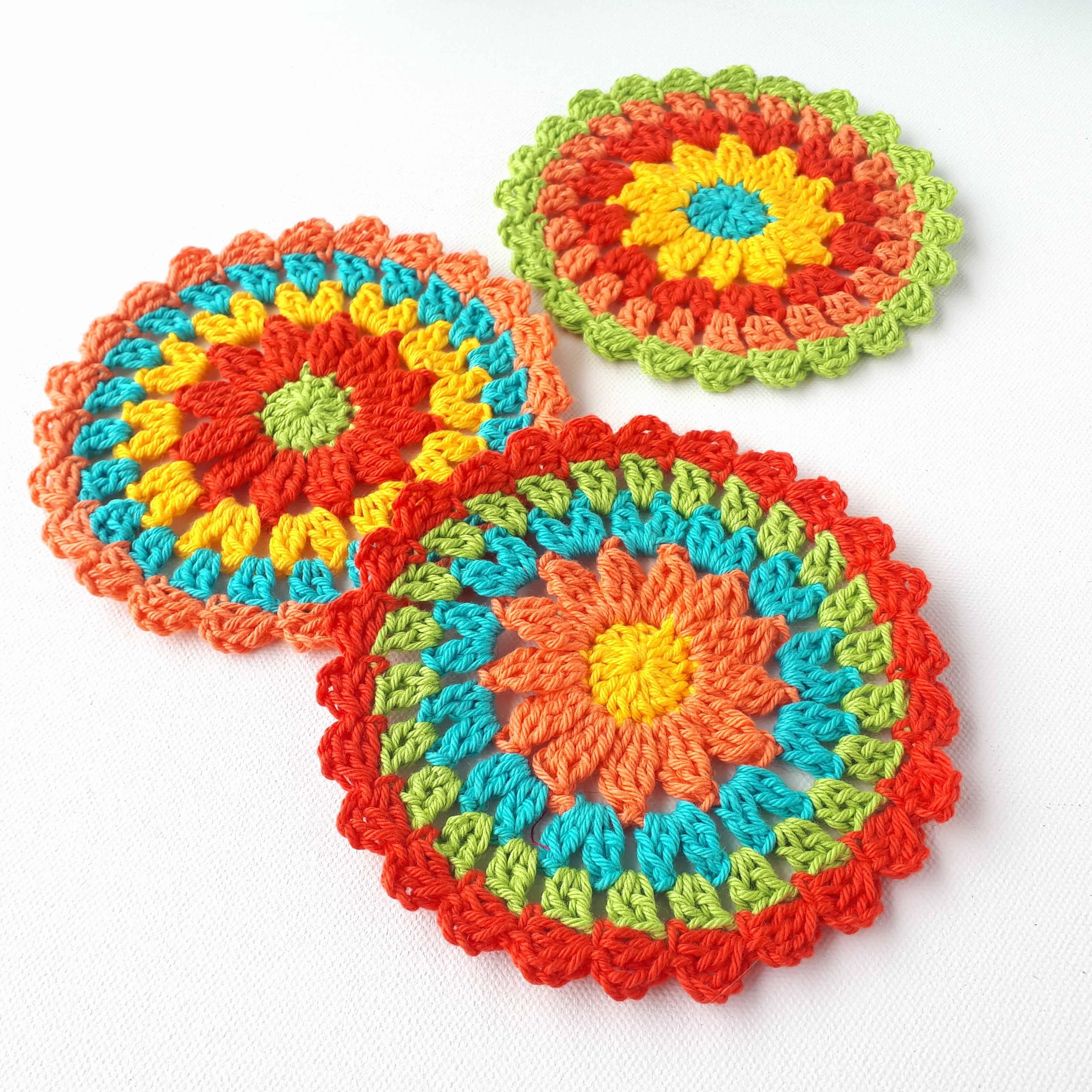 Zesty Coasters – Easy Free Crochet Pattern – Annie Design