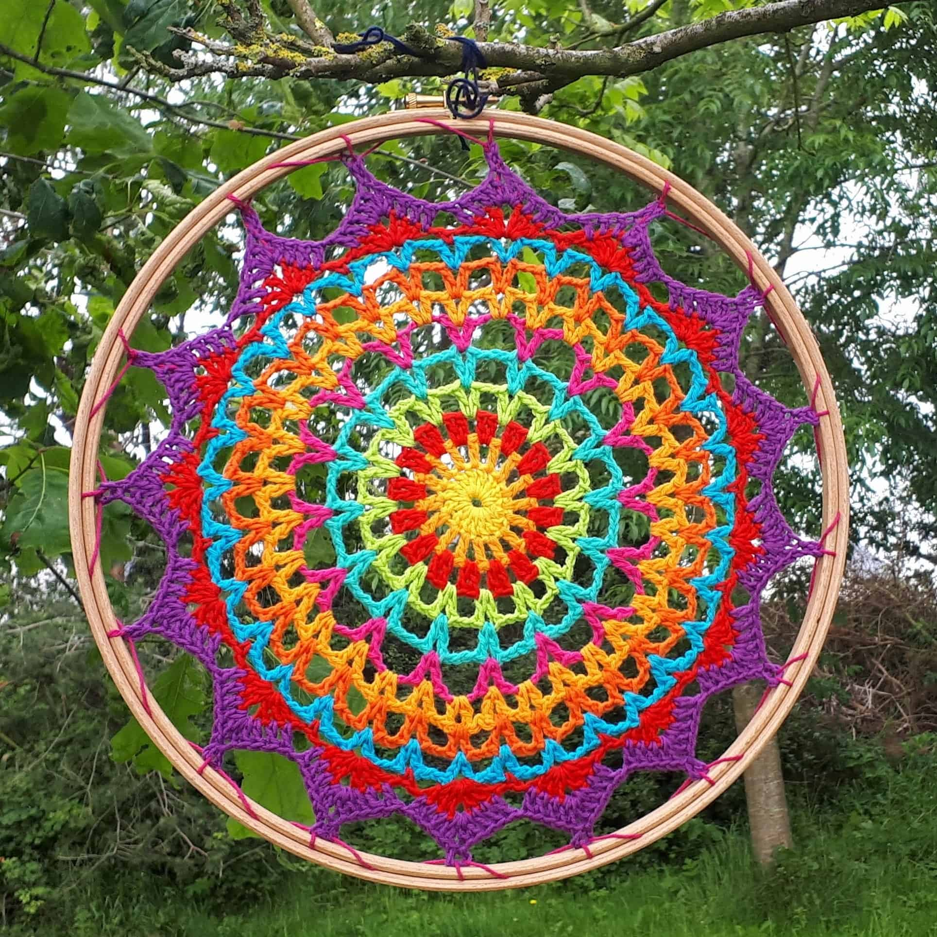 Summer Mandala Free Crochet Pattern Annie Design Crochet