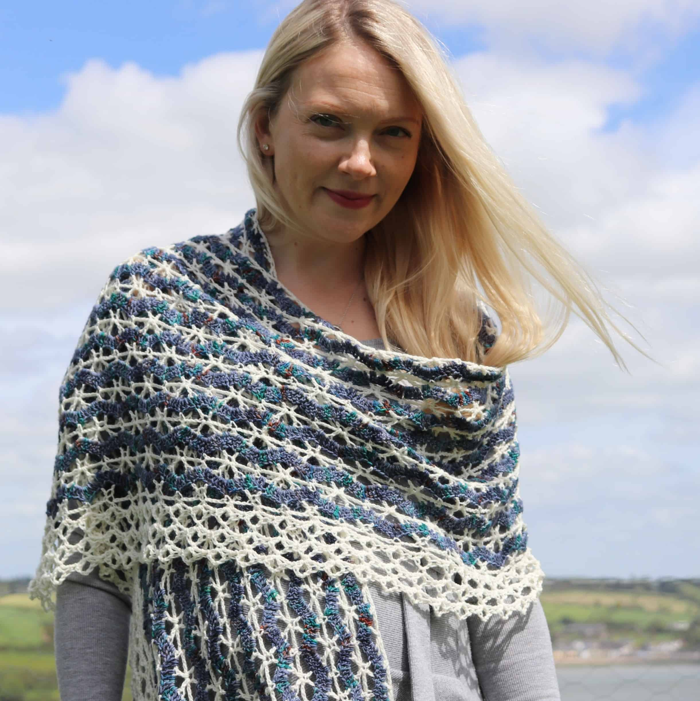 crochet wrap lace vintage shawl