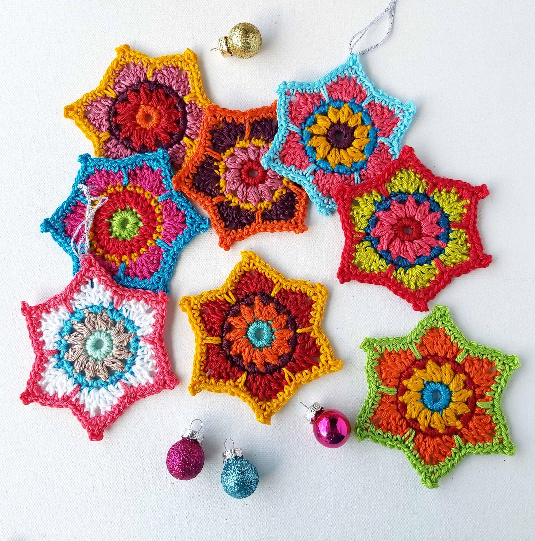 Christmas Crochet Stars Free Pattern Annie Design Crochet