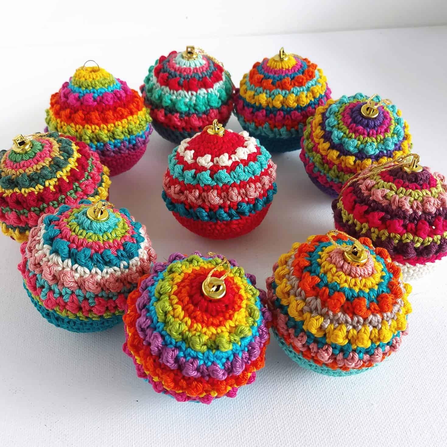 boho crochet baubles free pattern