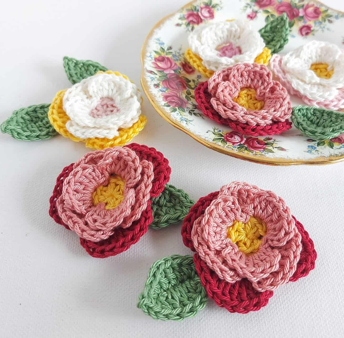 3d crochet flower pattern