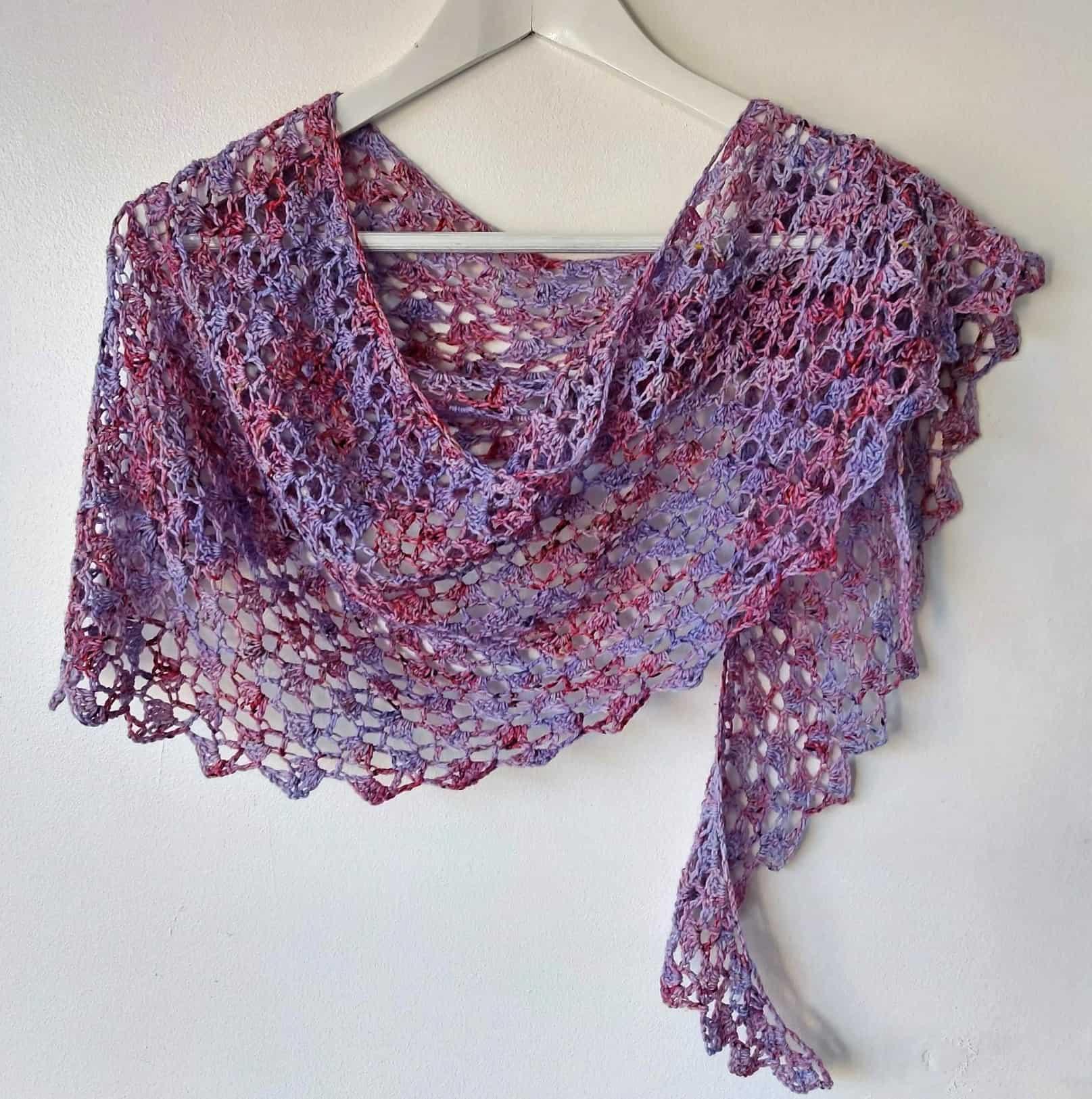 easy one skein crochet shawl